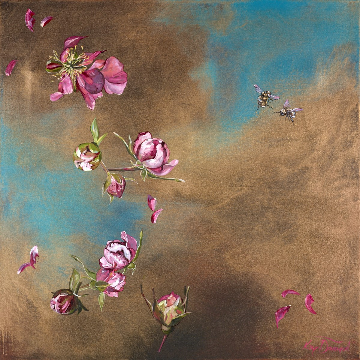 Bee Dance by kay davenport -  sized 30x30 inches. Available from Whitewall Galleries